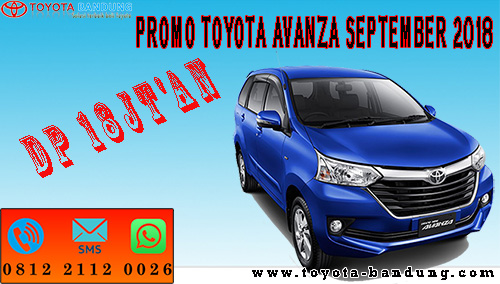 Promo Toyota Avanza September 2018