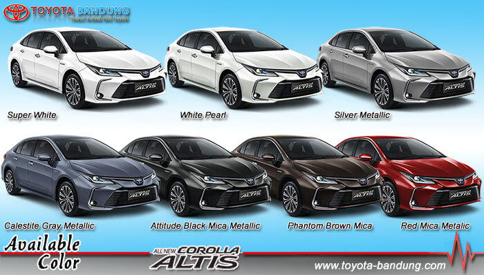 Pilihan Warna All New Corolla Altis