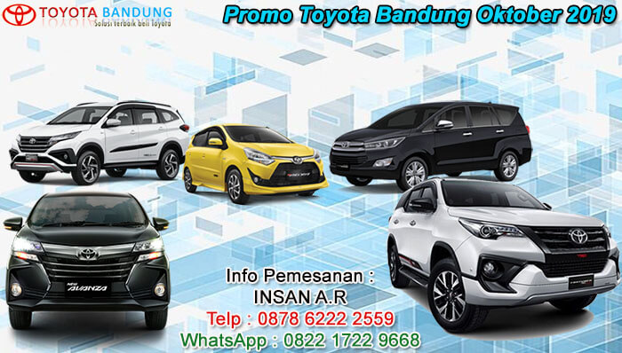 Promo Toyota Bandung Oktober 2019 Sales 0878 6222 2559
