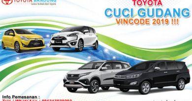 TOYOTA CUCI GUDANG VINCODE 2019