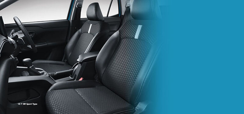 Fabric & Leather Combi Seat