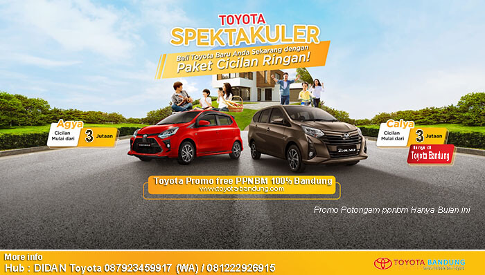 Toyota Promo free PPNBM 100% Bandung